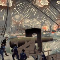黄海海戦を描いた浮世絵 wikipedia